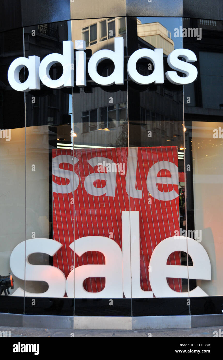 Adidas store sale January Sales London Retail sales sale signs Oxford  street London 2012 4a250cfaf