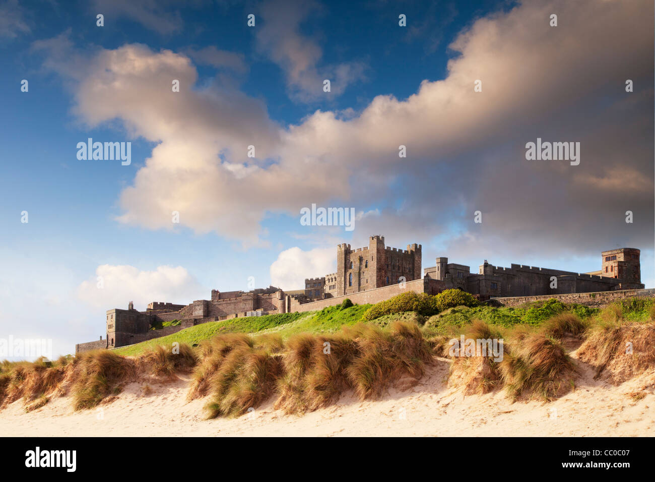 Bamburgh Castle, on the Northumberland coast, England. Stock Photo