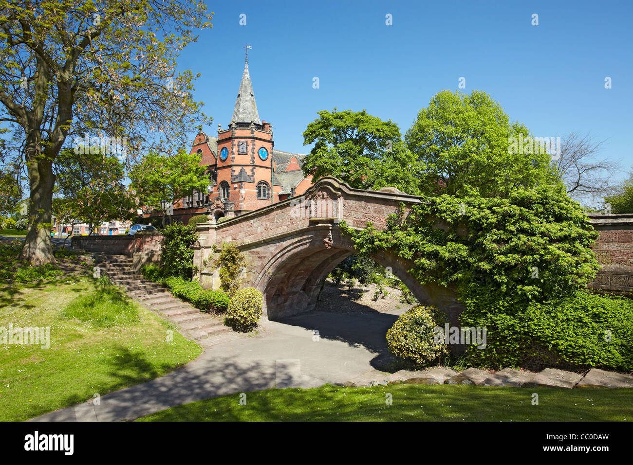 The Dell, Port Sunlight Village, Wirral, UK - Stock Image