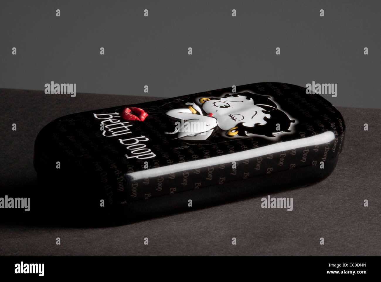 A spectacle case in Betty Boop livery - Stock Image