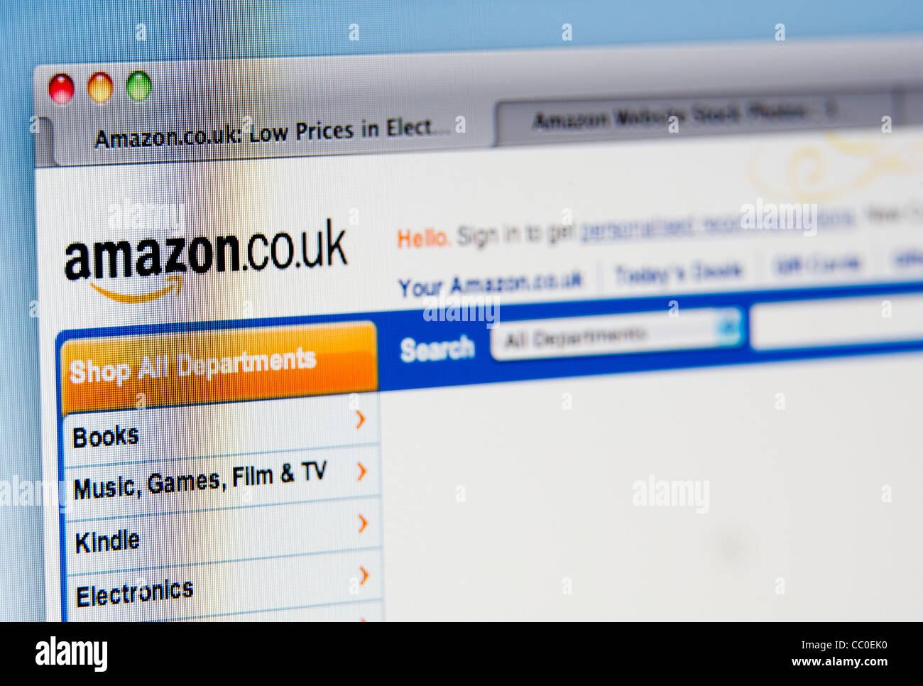 Amazon website - Stock Image
