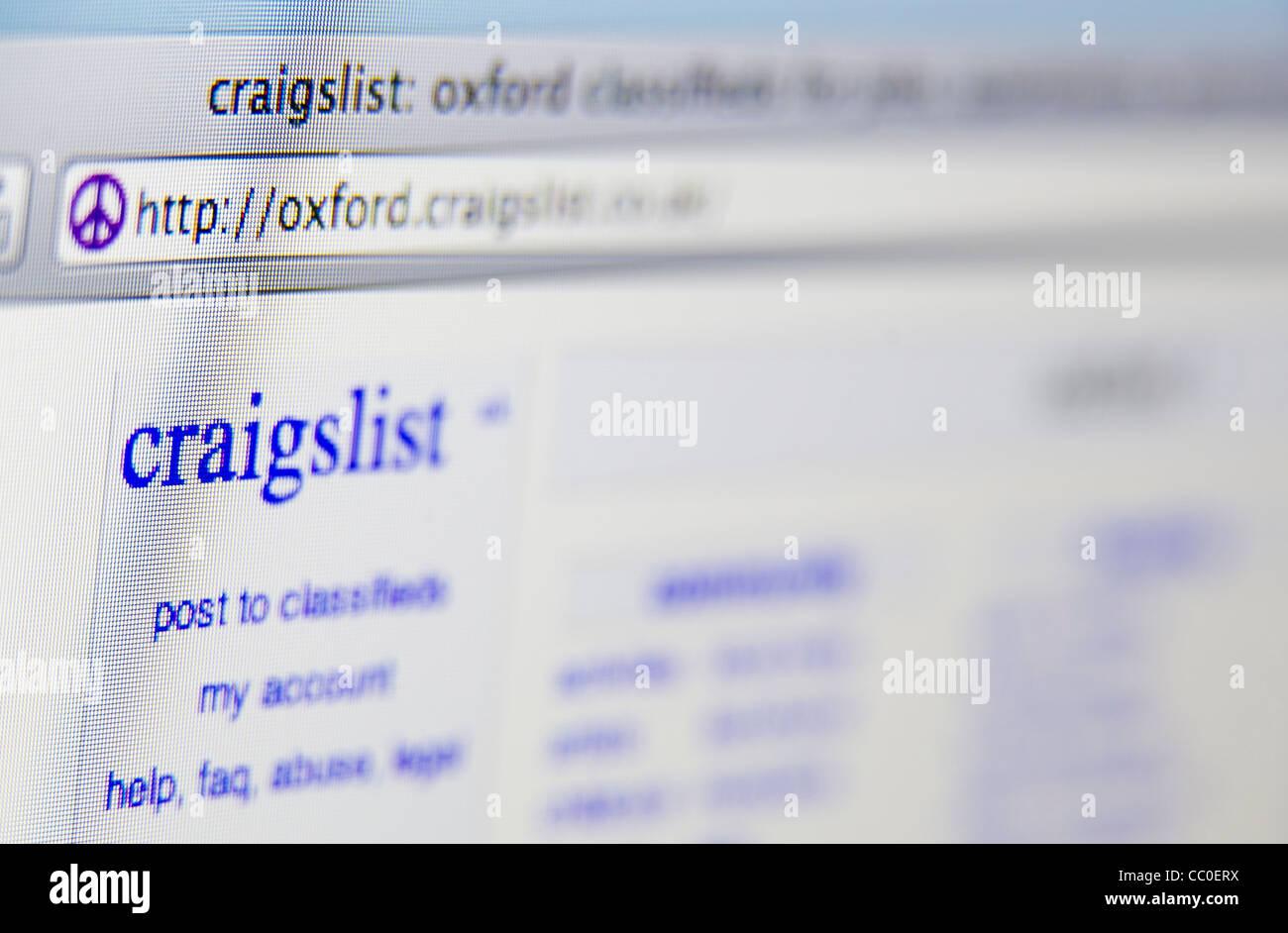 craigslist craigs list website screen stock photo 41808254 alamy