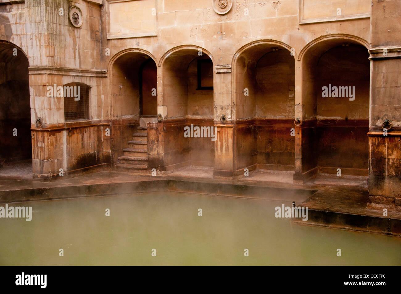 The Roman baths of the World Heritage City Bath, England UK. - Stock Image