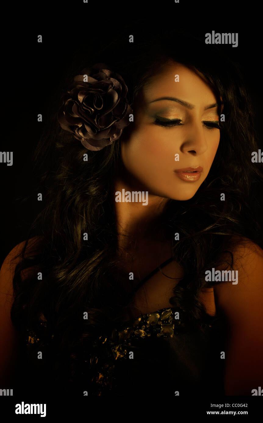Beautiful ethnic woman - Stock Image