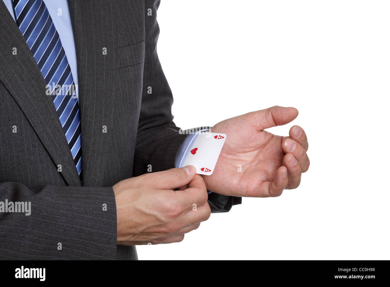 Ace up your sleeve - Stock Image