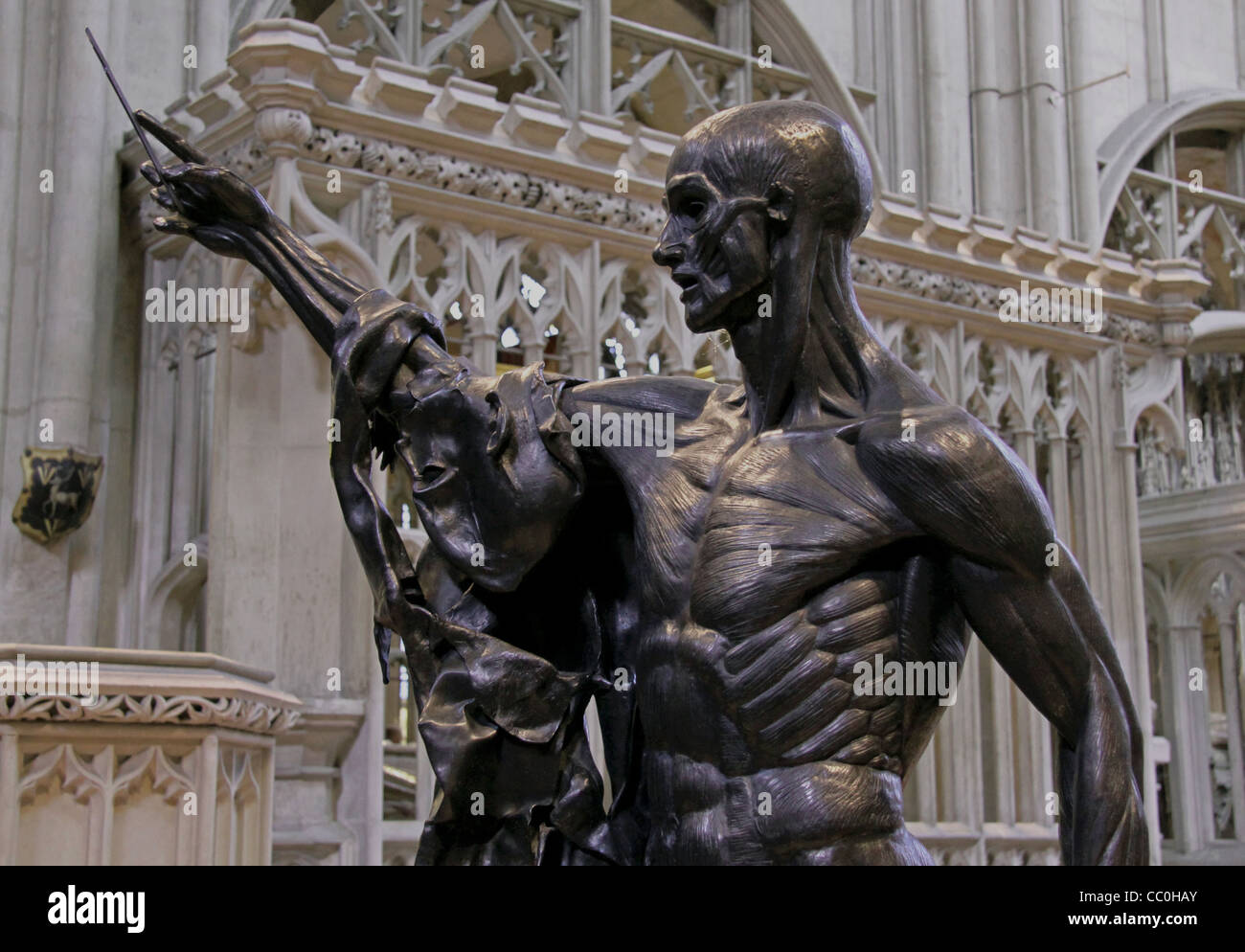 Damien Hirst's 'St Bartholomew, Exquisite Pain' At The Crucible Exhibition, Gloucester - Stock Image