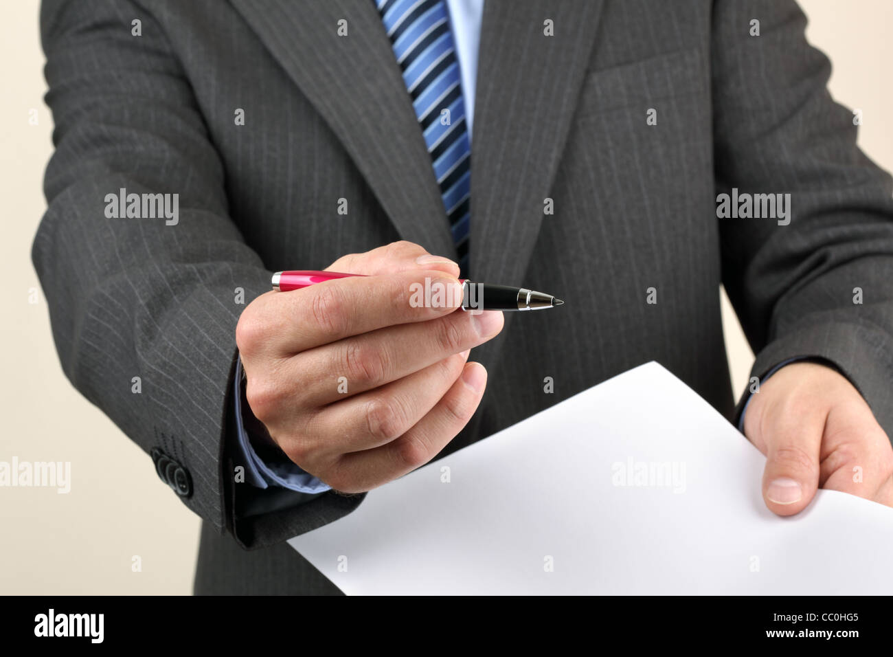 Please sign here - Stock Image