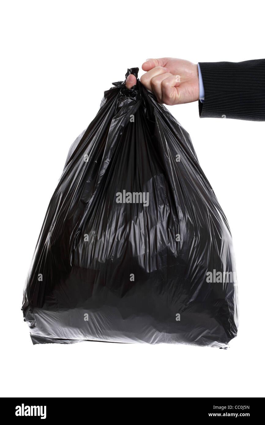 Garbage bag - Stock Image