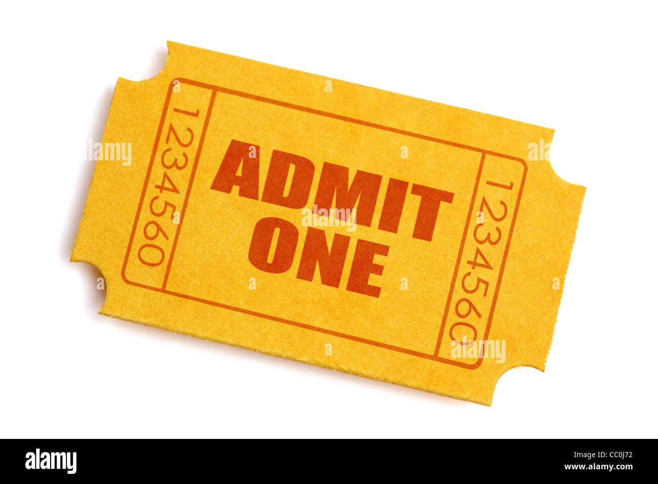 Admission ticket - Stock Image