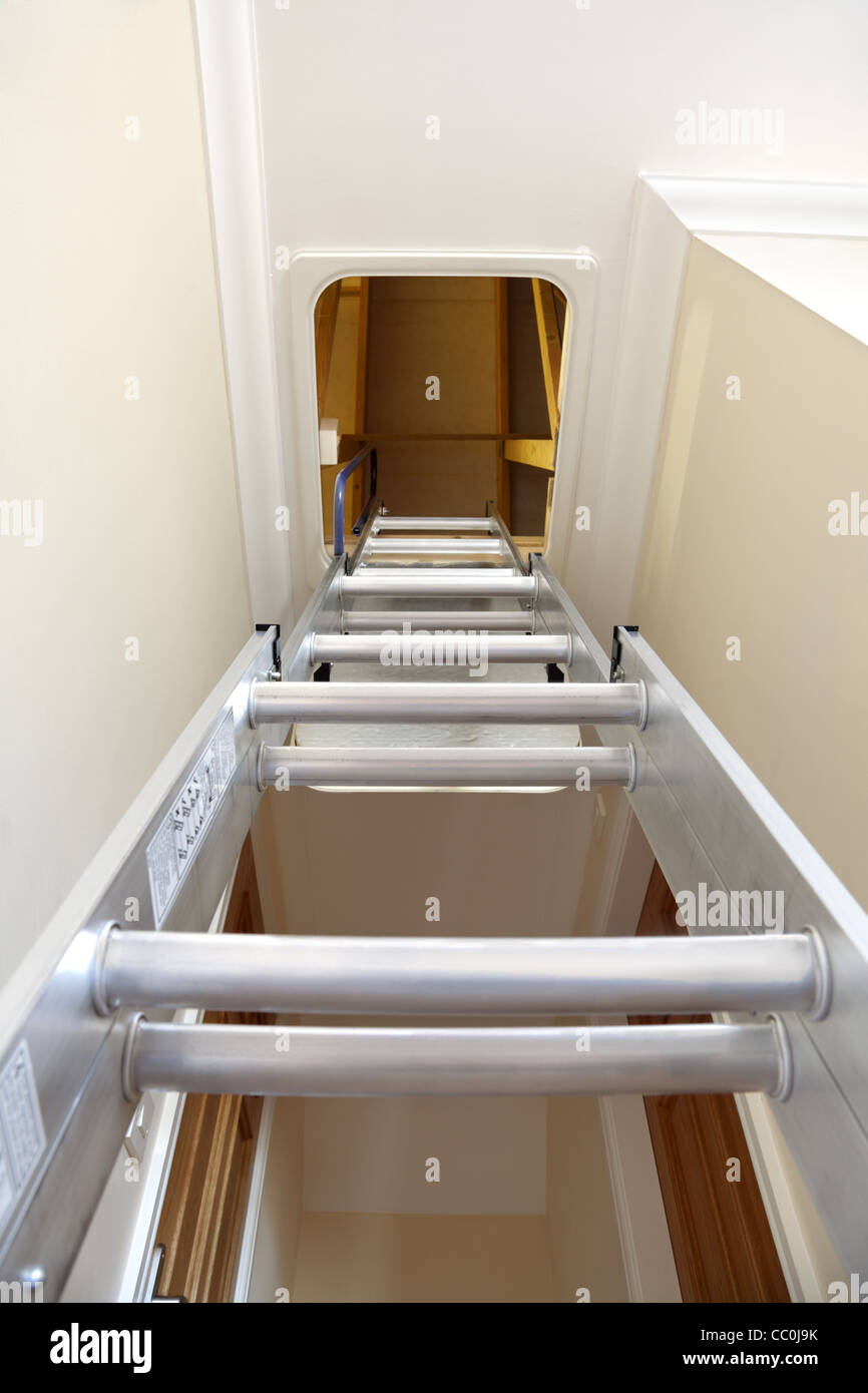 Entrance to the attic or loft - Stock Image