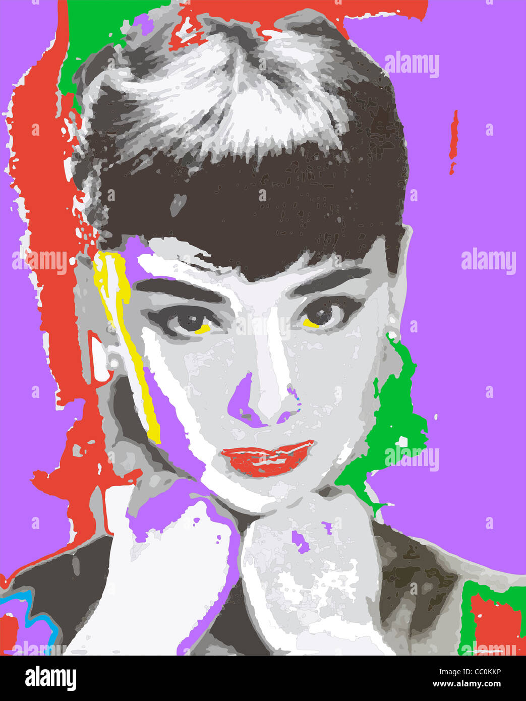 Audrey Hepburn Multicolour - Stock Image