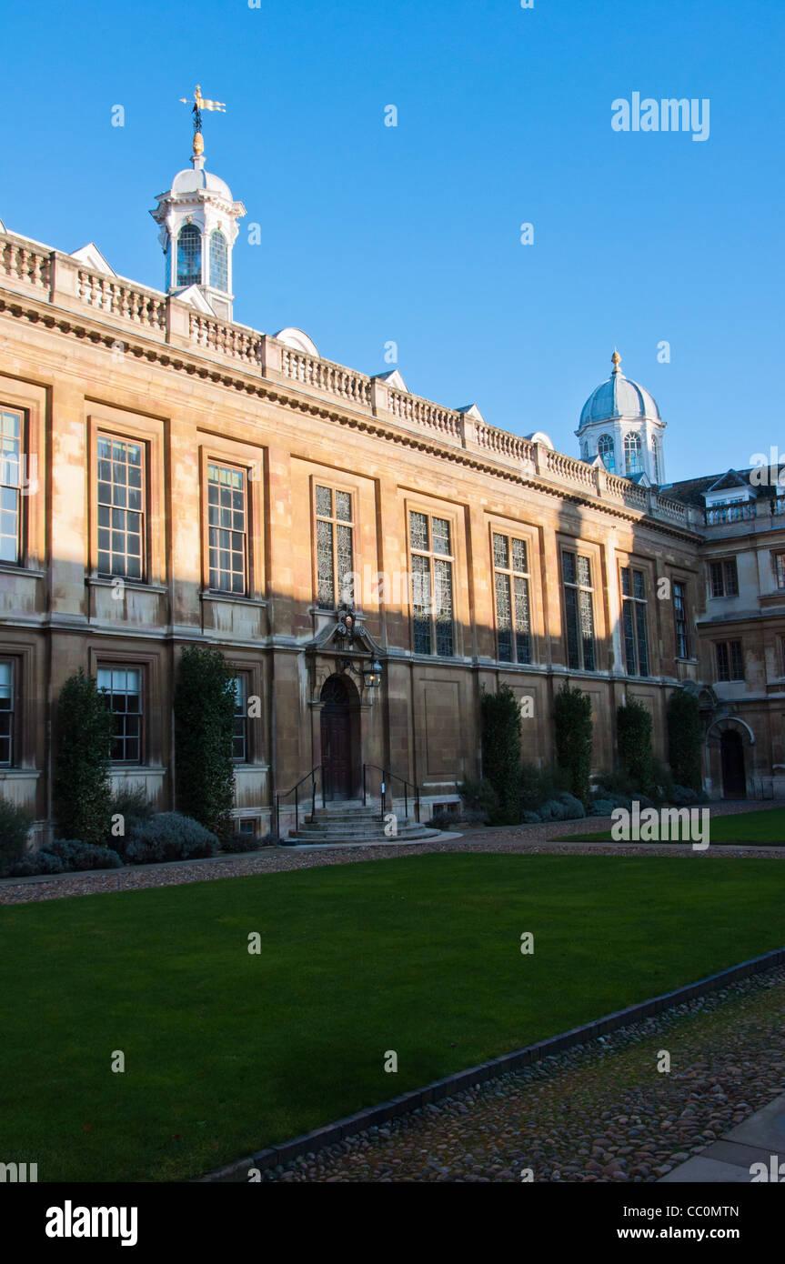 Clare College's courtyard / quadrangle. Cambridge University. UK - Stock Image