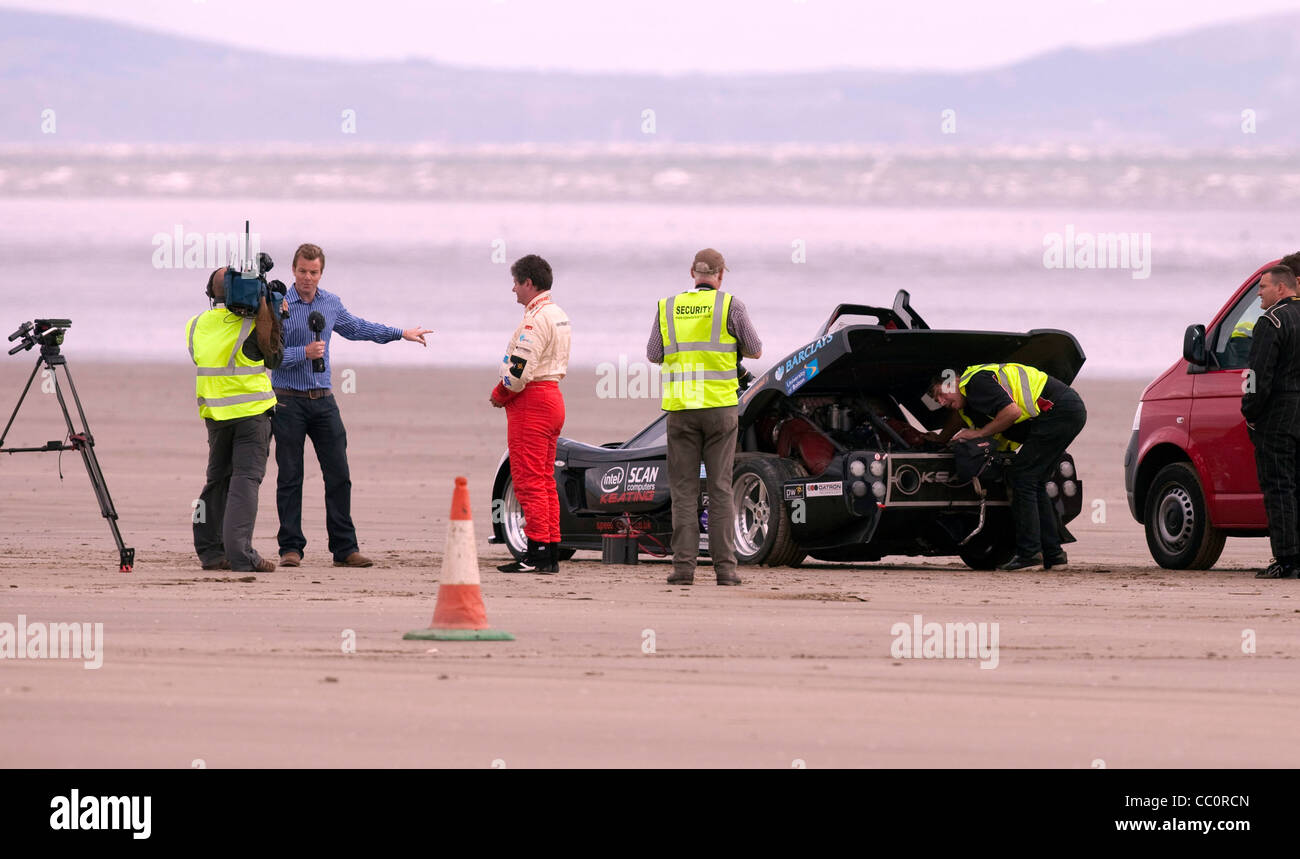 Land Speed Record Stock Photos Images Circuit Map For Bromyard Festival Mike Newman Who Is Attempting Blind At Pendine Sands With His Keating Tkr