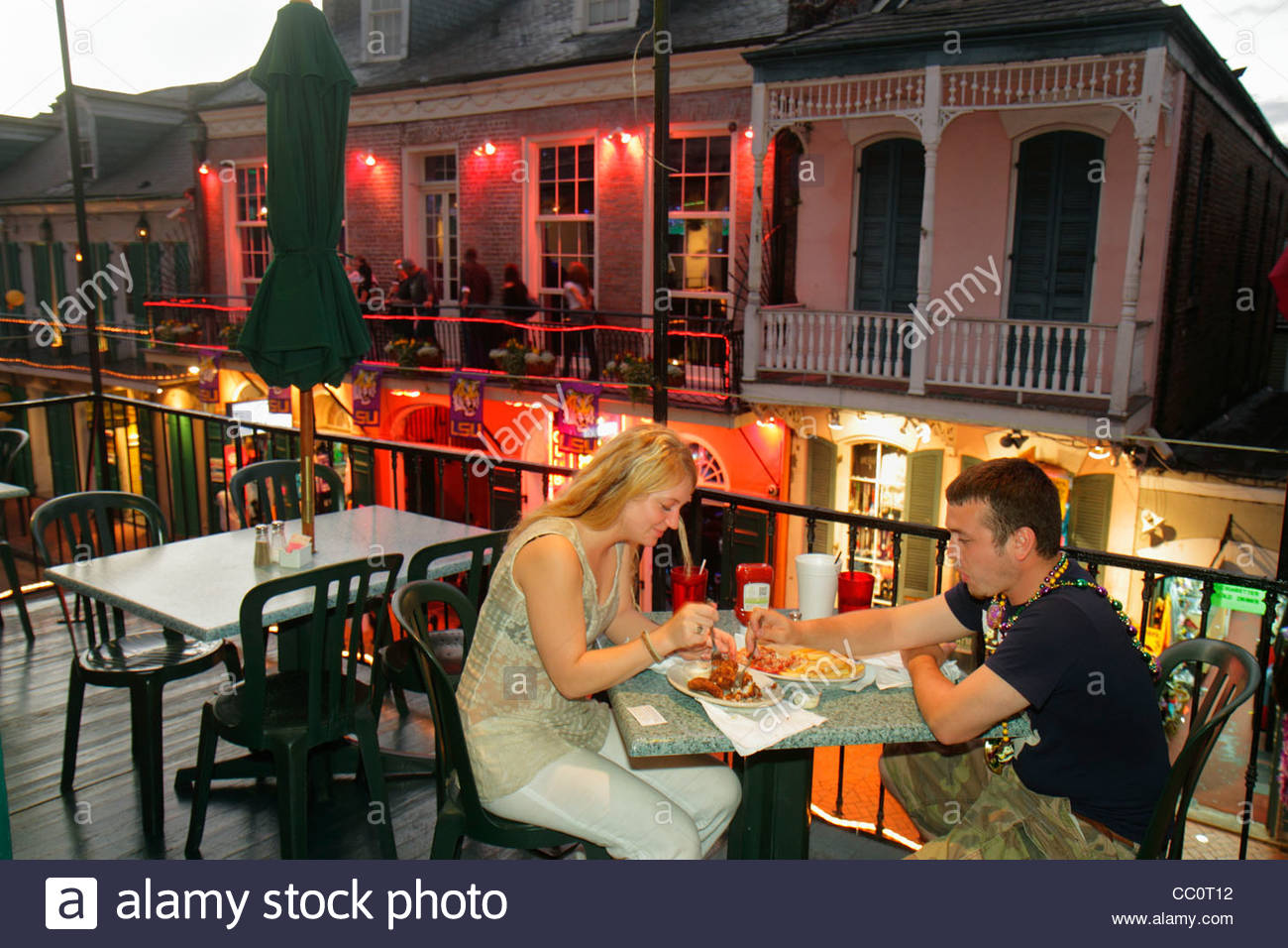 New Orleans French Quarter Restaurants Stock Photos New