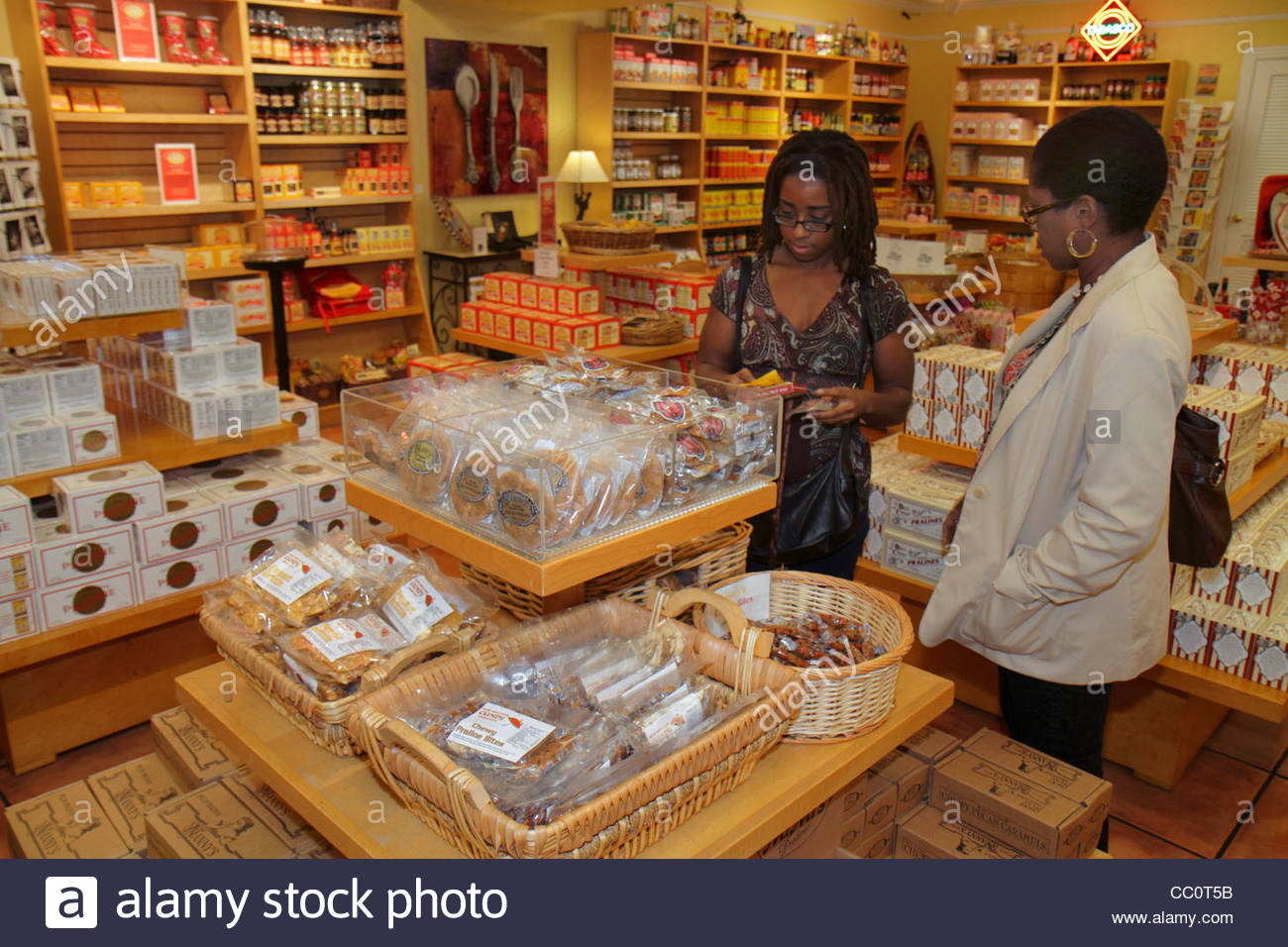 New Orleans Louisiana French Quarter store gift shop shopping Stock