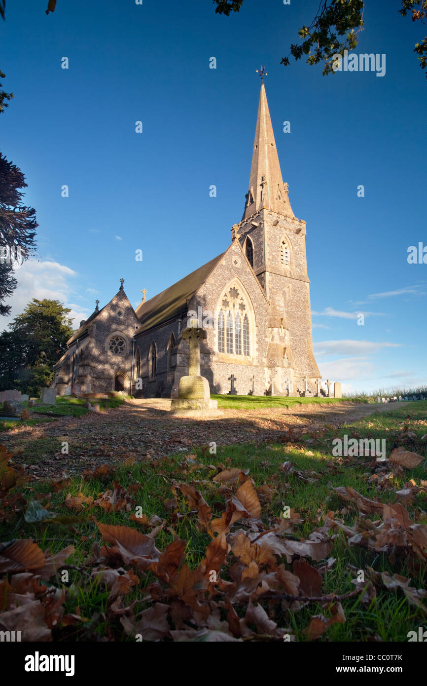St Matthew's Church, Midgham, Berkshire, Uk - Stock Image