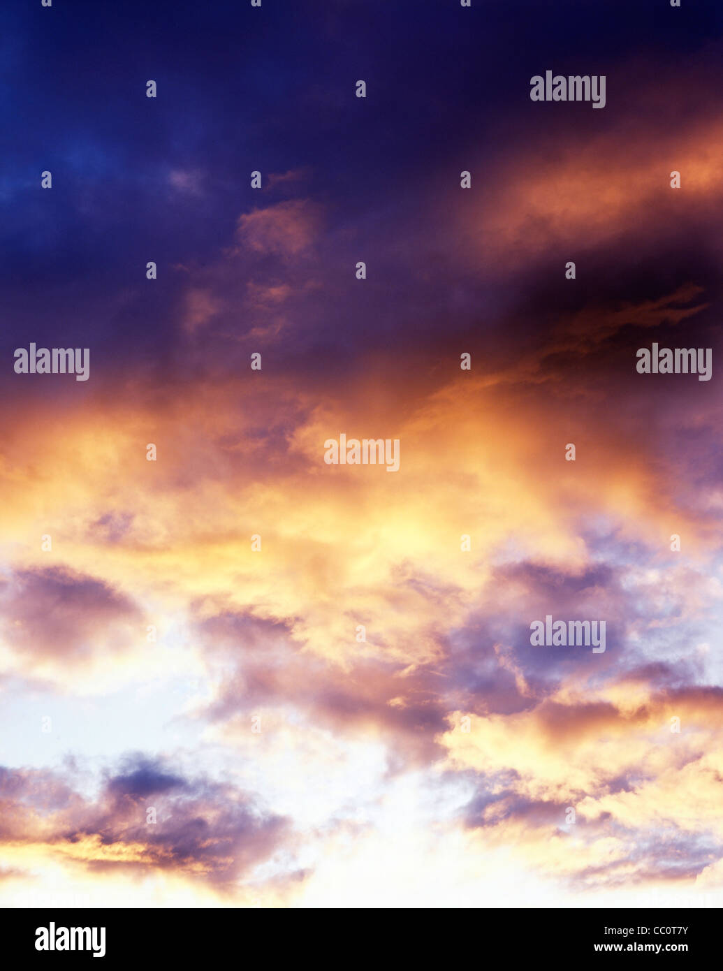 Red Clouds at Sunset or Morning - Stock Image