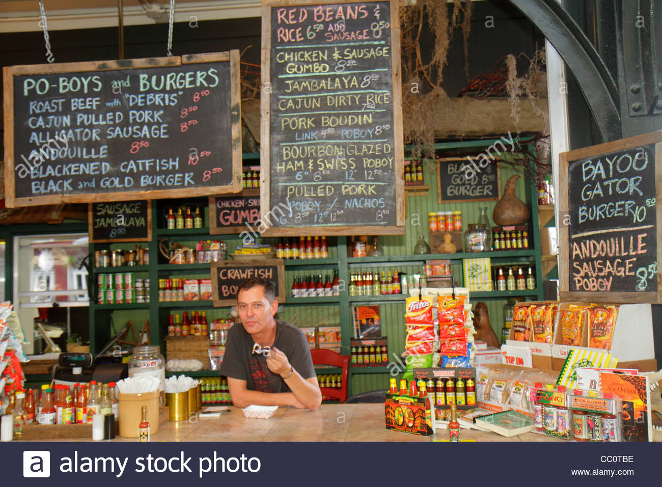 New Orleans Louisiana French Quarter National Historic Landmark Historic  French Market Local Products Shopping Dining Cajun Cafe