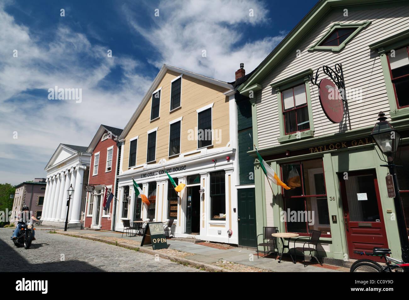 Old Town New Bedford Massachusetts USA Stock Photo