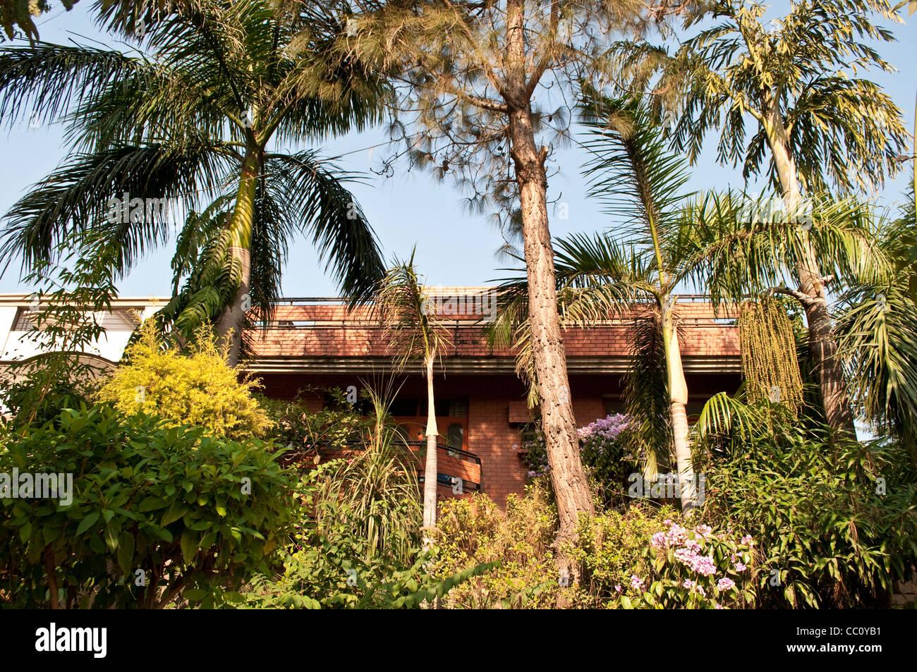 Posh residential house, Chandigarh, India - Stock Image