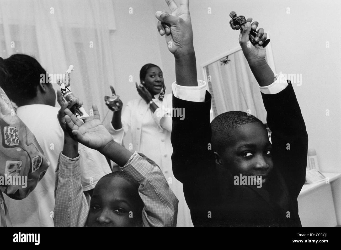 Senegalese marriage, Magenta, Italy  - Stock Image