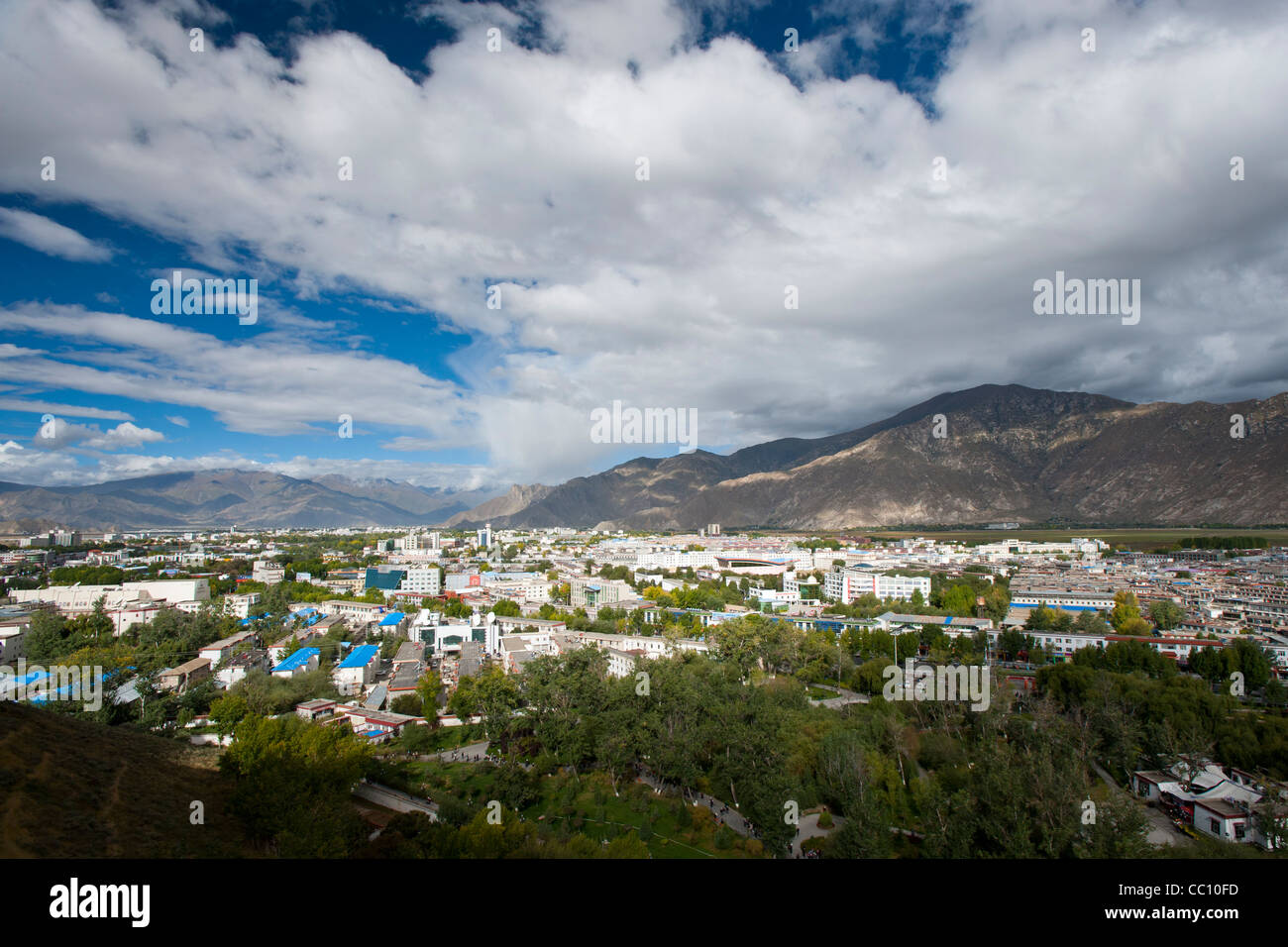 A view of Lhasa from Potala Palace - Stock Image