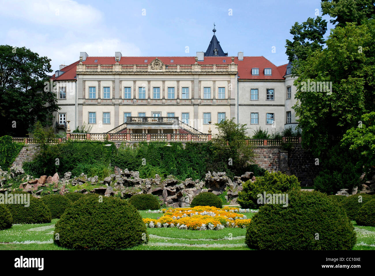 Castle Wiesenburg in Brandenburg. - Stock Image