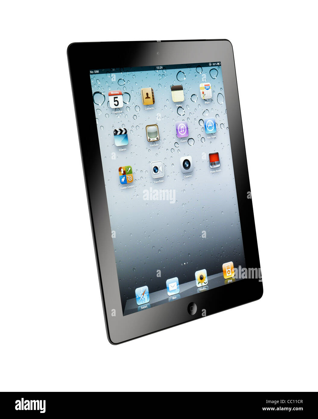 A cut out shot of an iPad2 Stock Photo