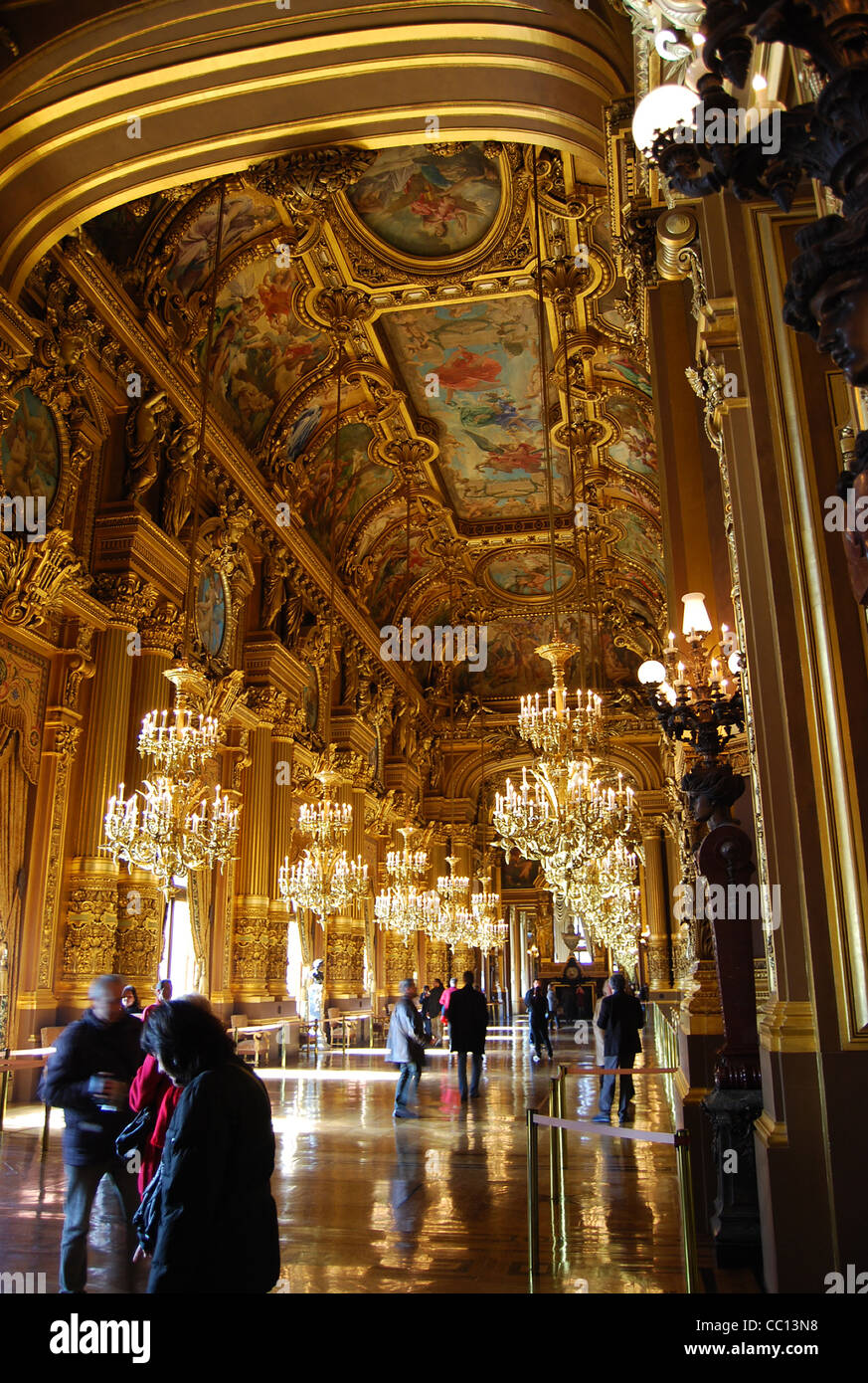 Opera house Paris France number - Stock Image