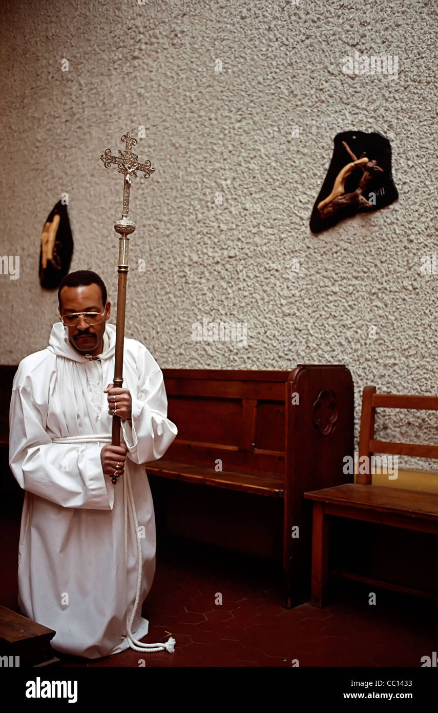 Lent Devotion of The Stations of The Cross - Stock Image