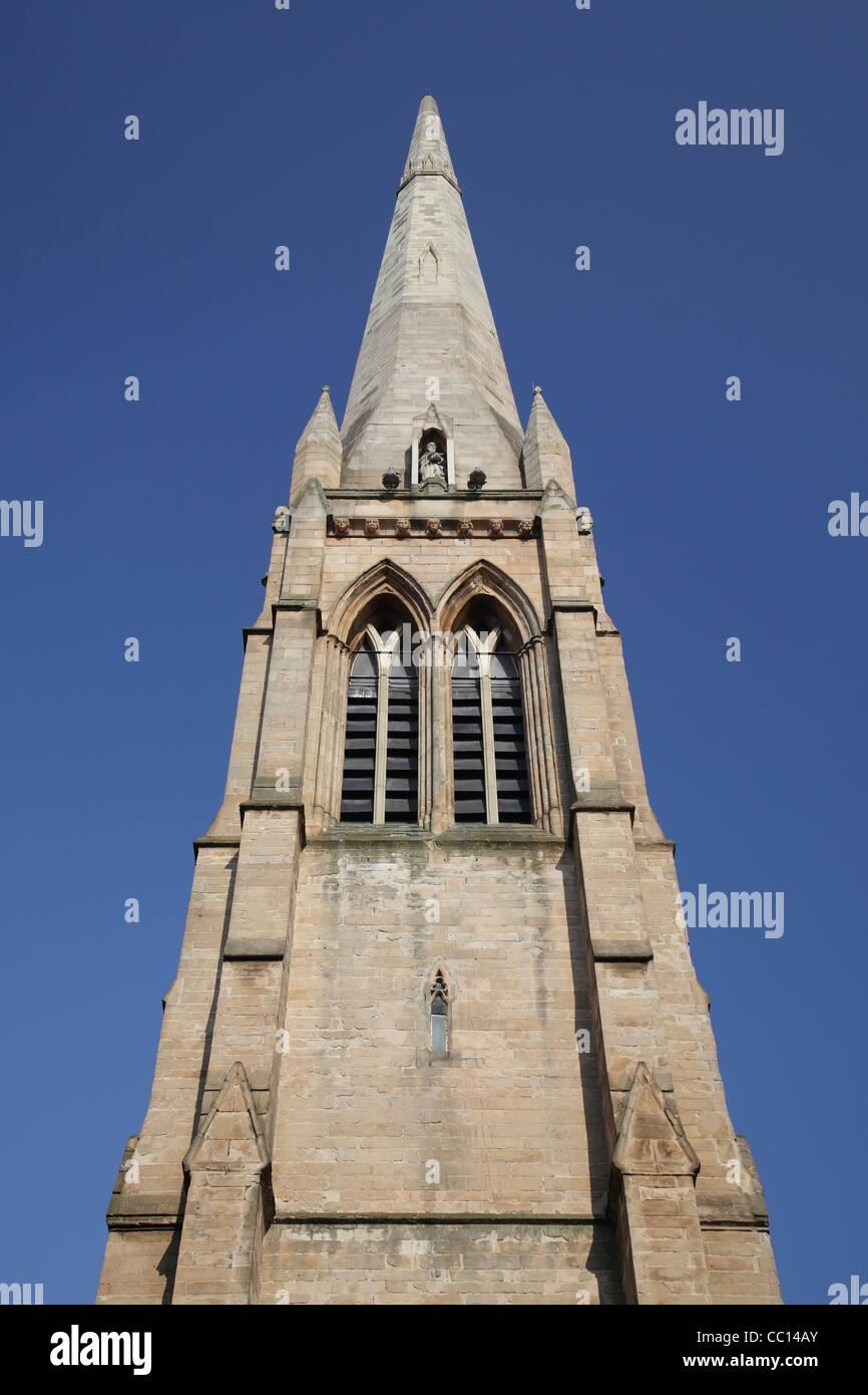 The steeple of Renfield St. Stephen's Church, Bath Street, Glasgow Scotland UK - Stock Image