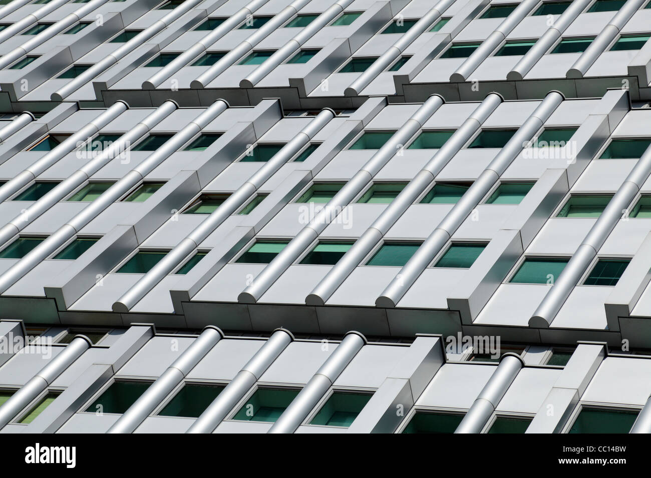 The facade of The Pinnacle Building Residential Apartments on Bothwell Street Glasgow Scotland UK - Stock Image