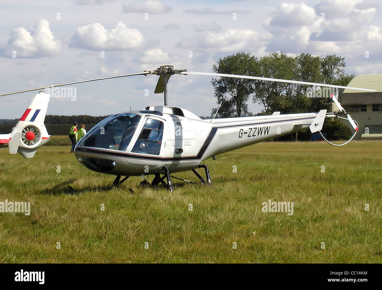 Enstrom 280FX Shark (G-ZZWW), built 1990, photographed at the Heli-Day, Kemble Airfield, England. - Stock Image