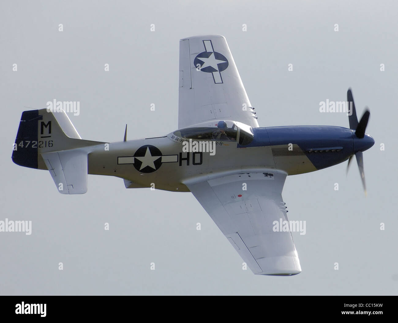 North American P-51D-20 (472216/HO-M, G-BIXL, Miss Helen) - Stock Image