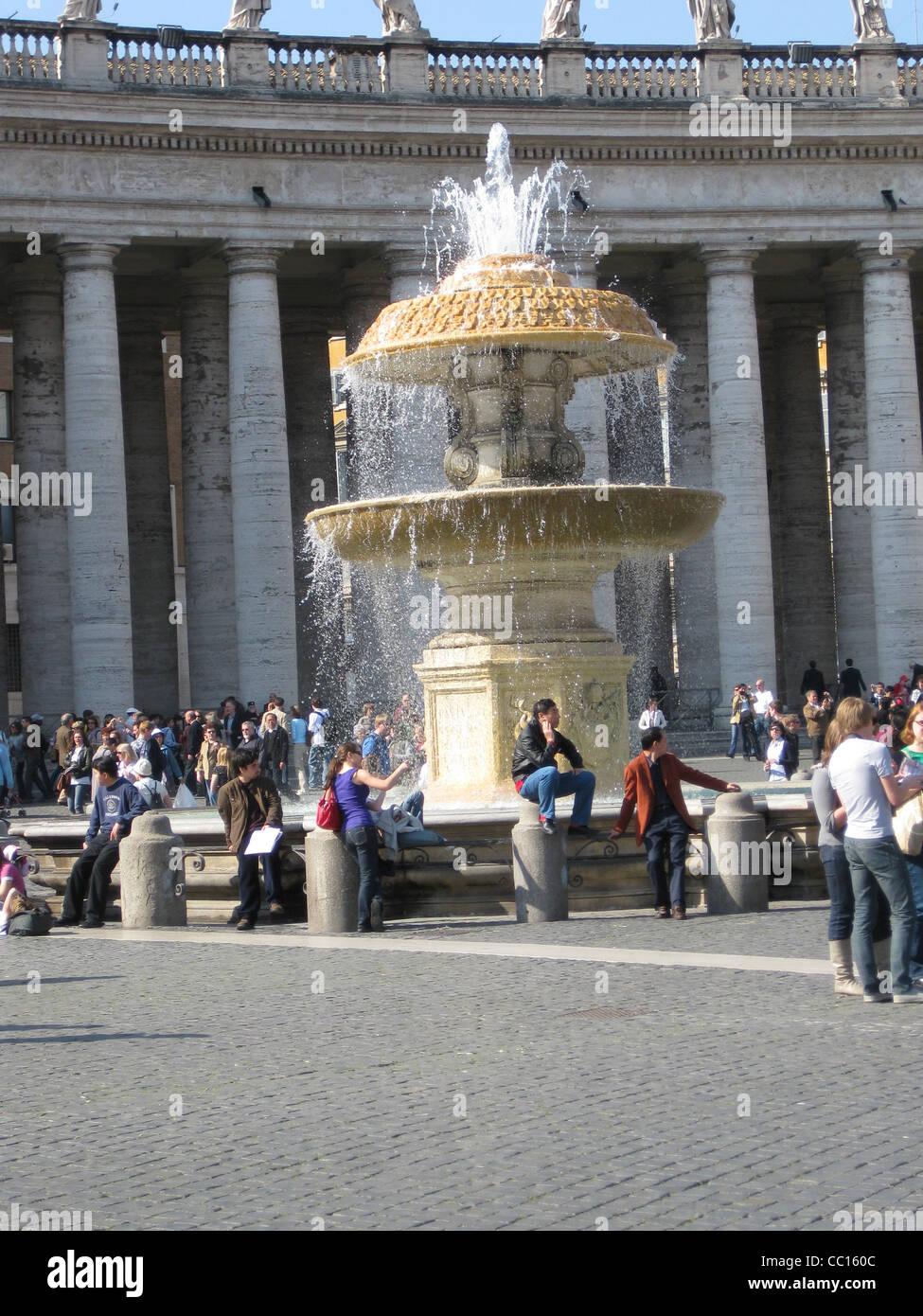 Bernini fountain in the square - Stock Image