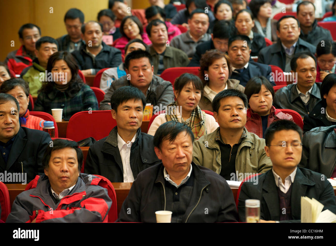Cadre students attend a lecture in Beijing Communist Party School in Beijing, China. 21-Nov-2011 - Stock Image