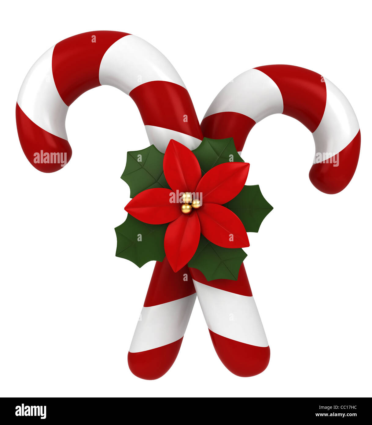 3d-illustration-of-candy-canes-tied-together-by-a-poinsettia-CC17HC.jpg