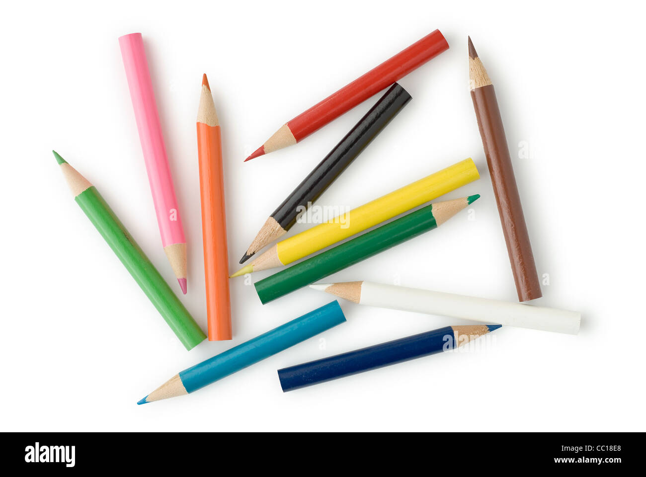 Multi Colored Pencils for School or Professional Use - Stock Image