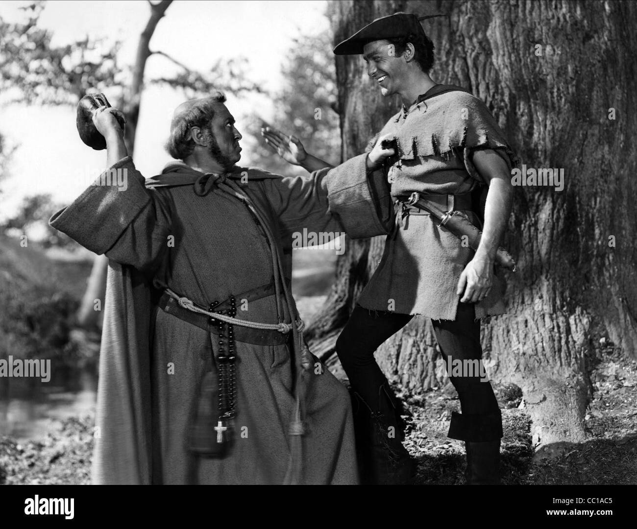 JAMES HAYTER & RICHARD TODD THE STORY OF ROBIN HOOD AND HIS MERRIE MEN (1952) - Stock Image