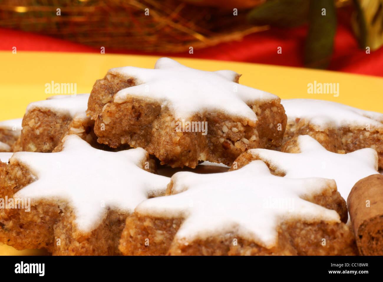 Cinnamon Star Cookies In German Zimtsterne Are Typical German And