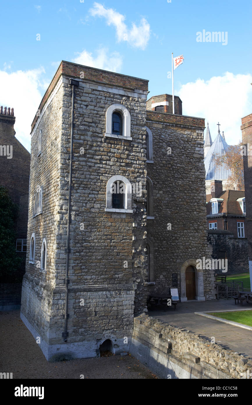the jewel tower part of the original palace of westminster London England UK United kingdom - Stock Image