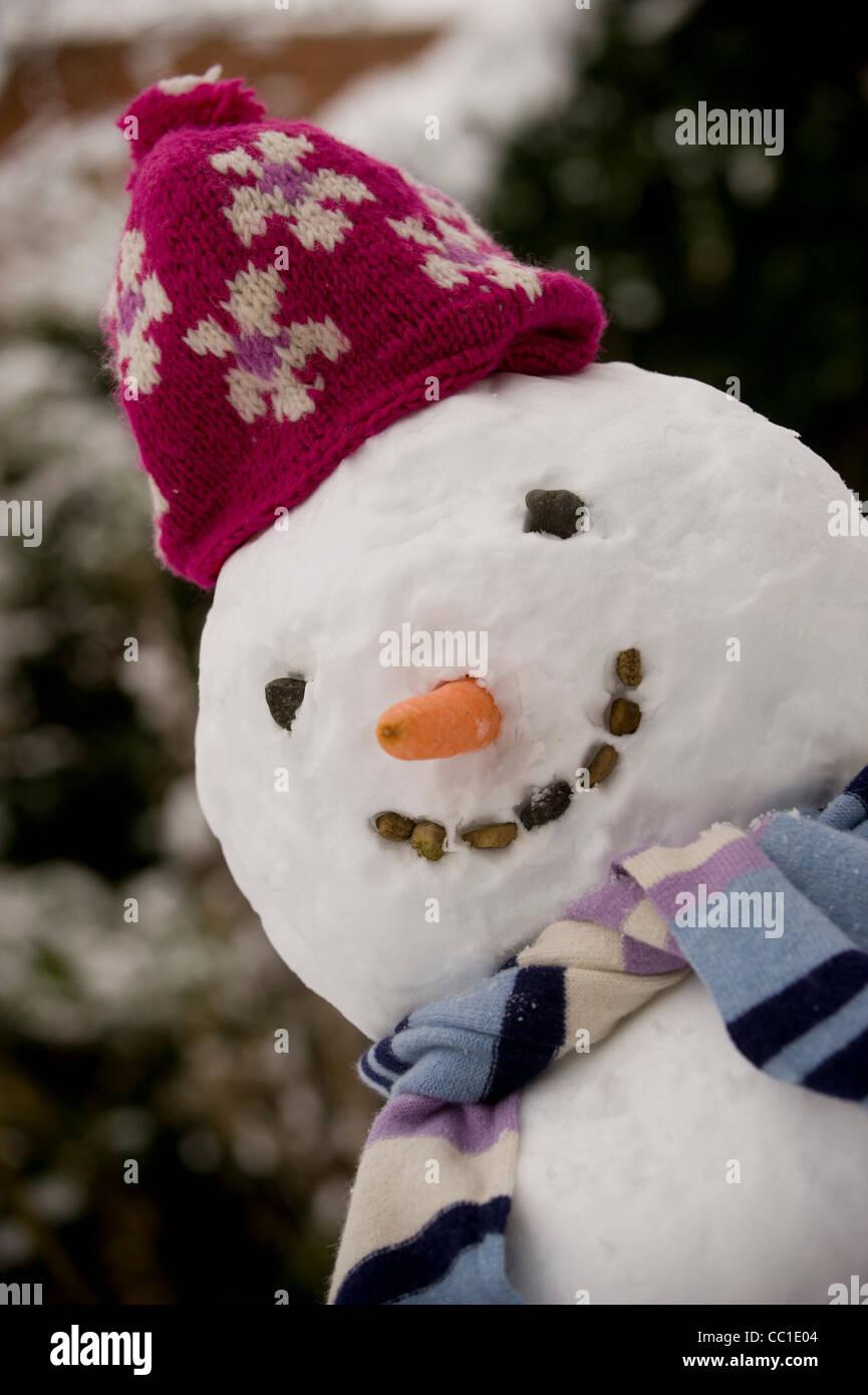 Snowman - Stock Image