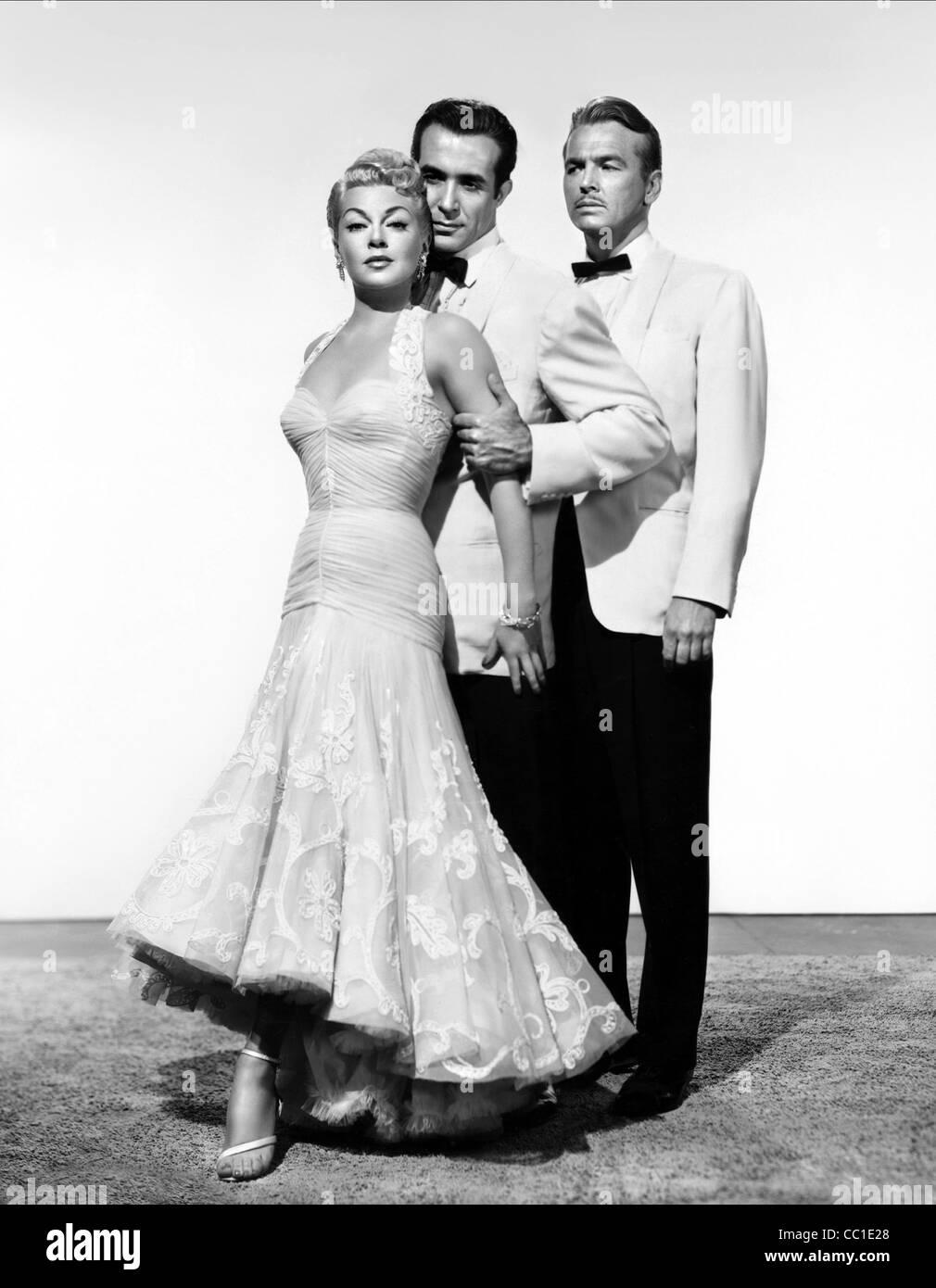 LANA TURNER RICARDO MONTALBAN & JOHN LUND LATIN LOVERS (1953) - Stock Image