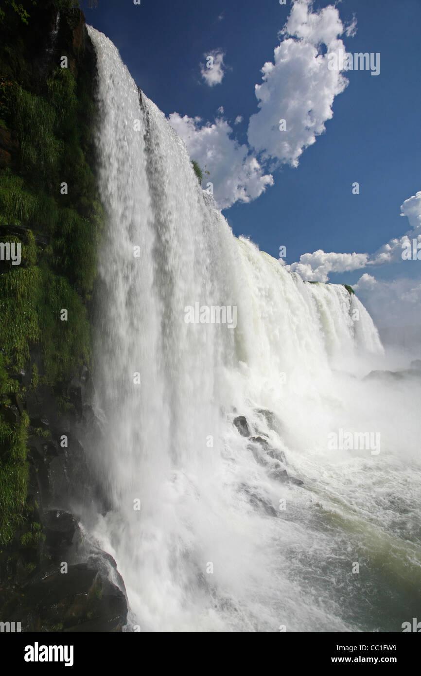Iguazu Falls / Iguassu Falls / Iguaçu Falls on the border of Brazil and Argentina - Stock Image