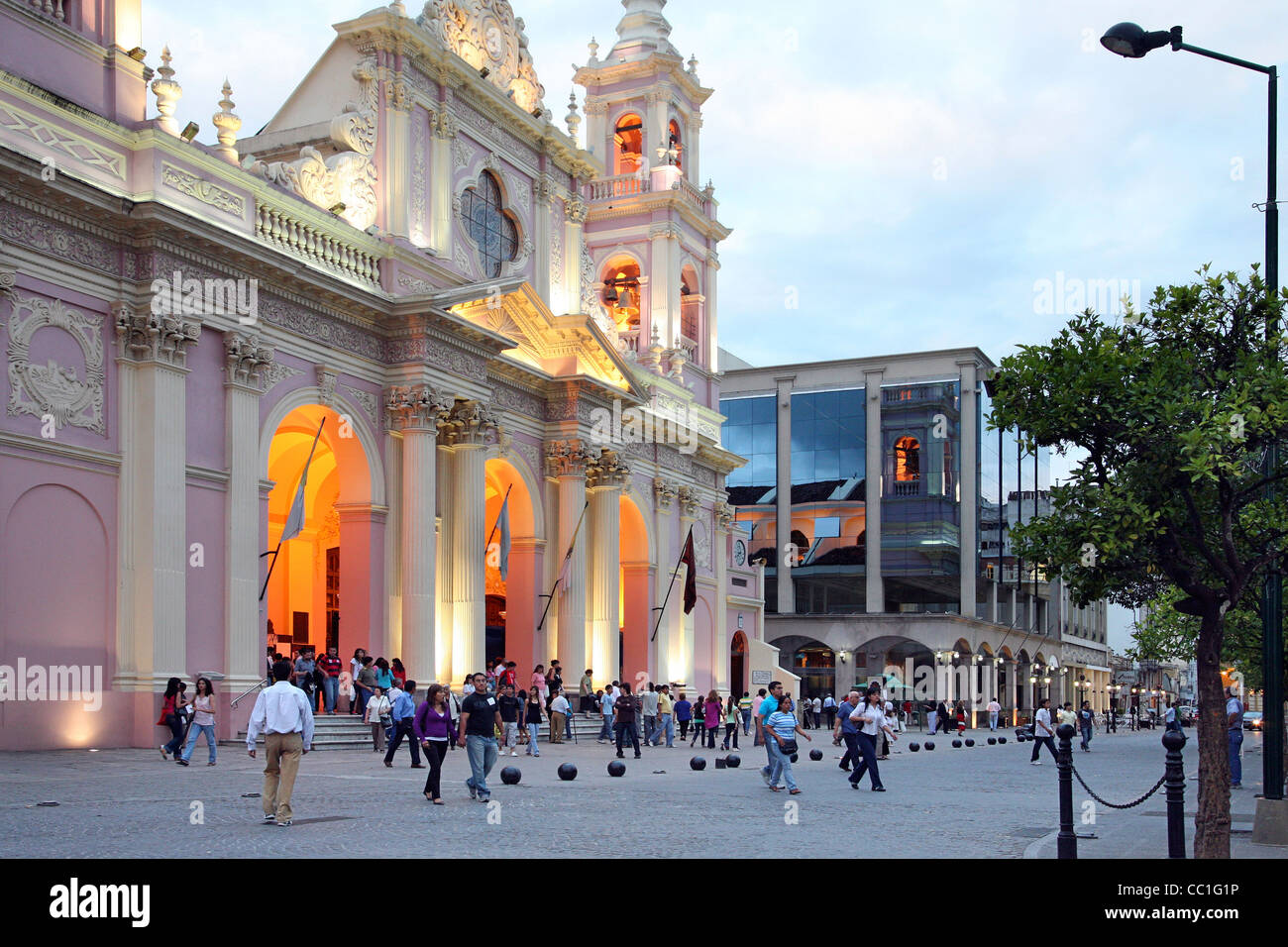 The Church of Saint Francis / Iglesia San Francisco in Salta, Argentina - Stock Image