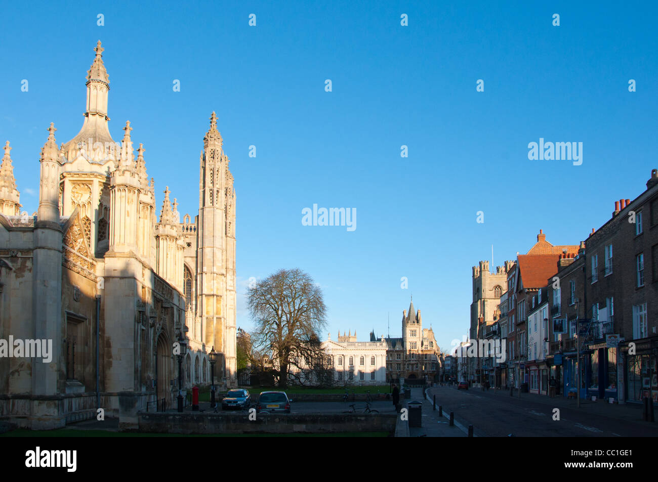 King parade, Cambridge, England. - Stock Image