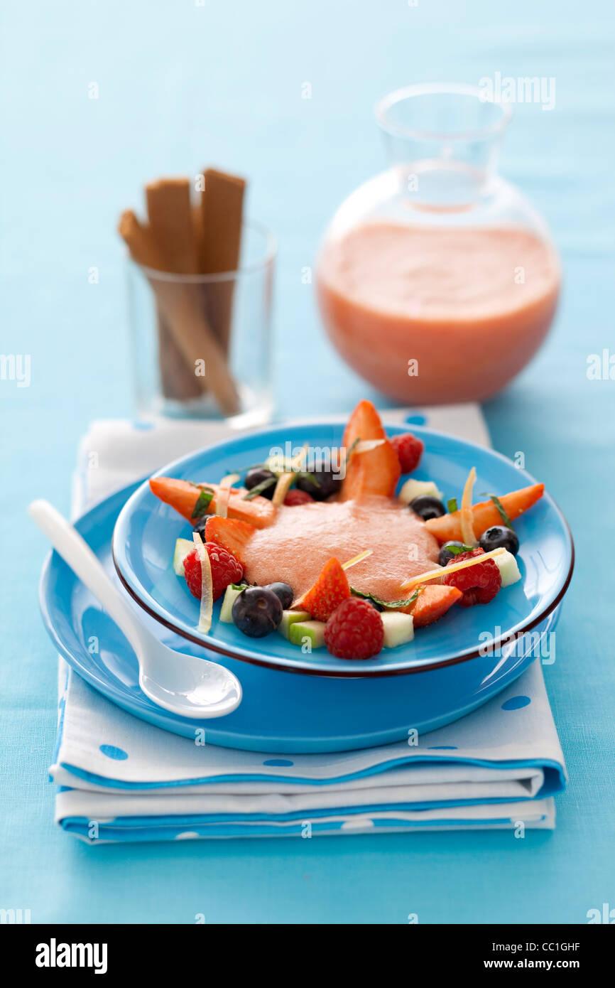 Fruit Gazpacho - Stock Image