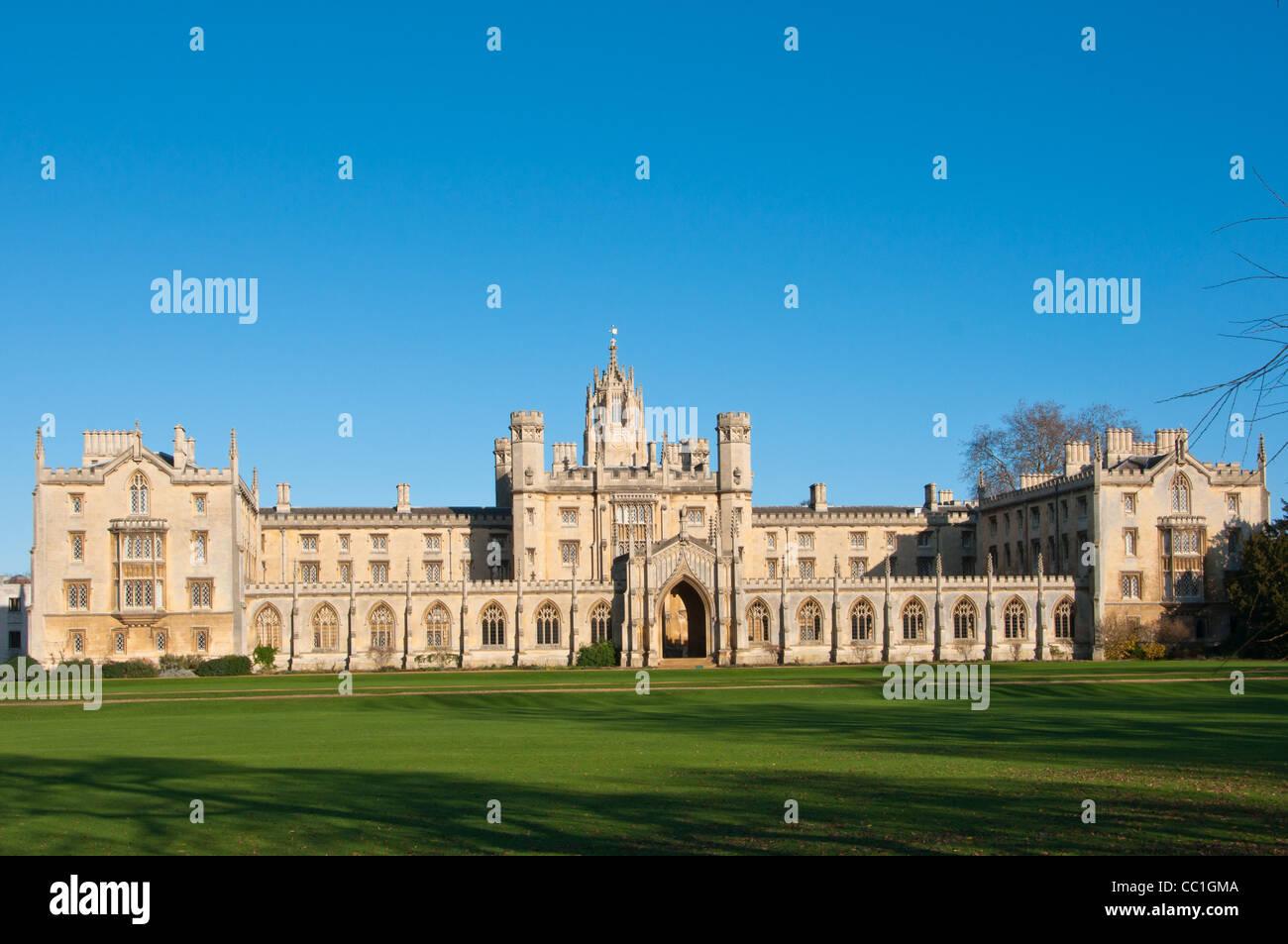 St John's College, Cambridge, UK - Stock Image