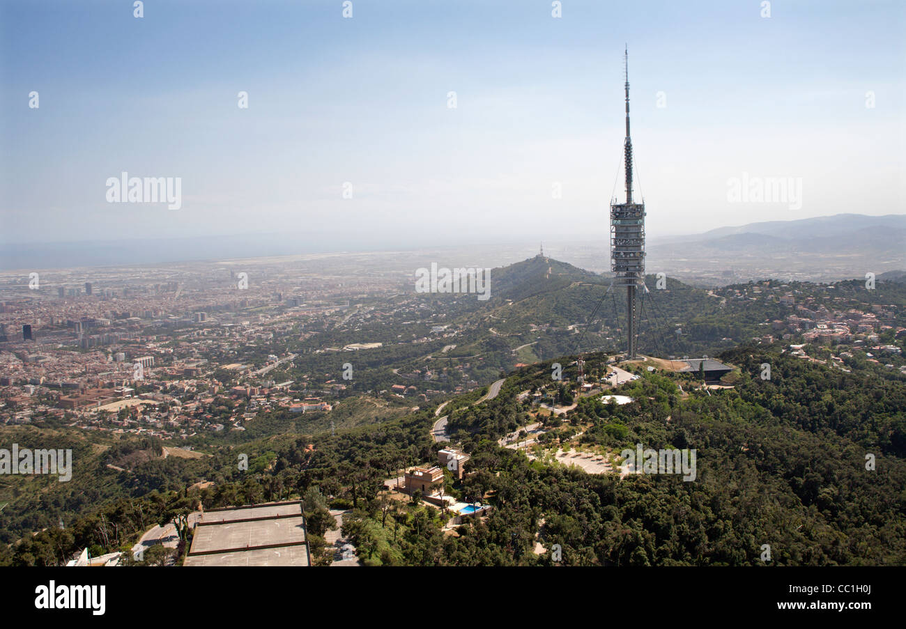 Barcelona - communication tower - from Forester and partners - Stock Image