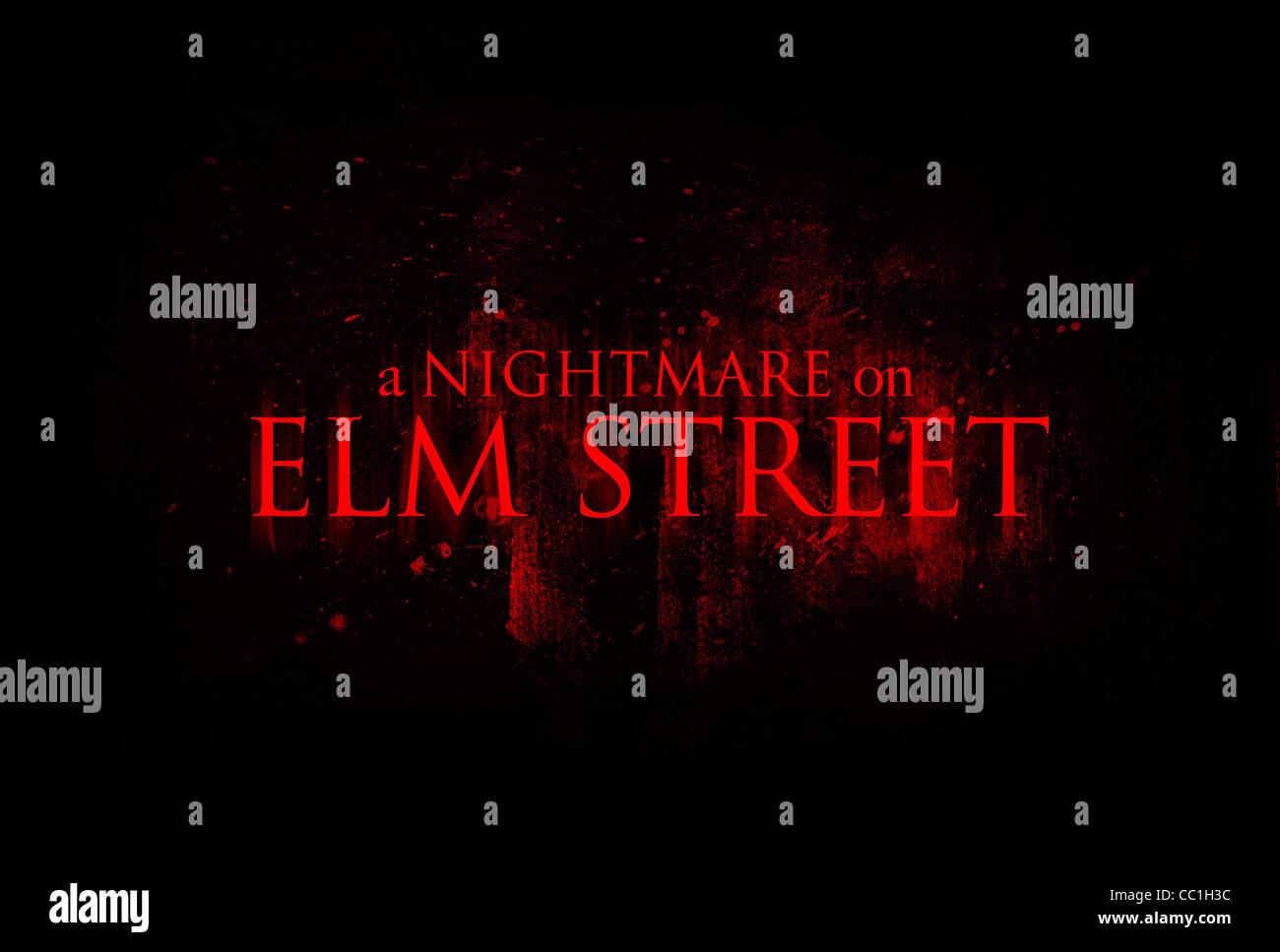 movie poster a nightmare on elm street 2010 stock photo